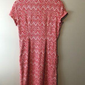J. McLaughlin Dresses - J. McLaughlin Emma Dress Red and White Medium